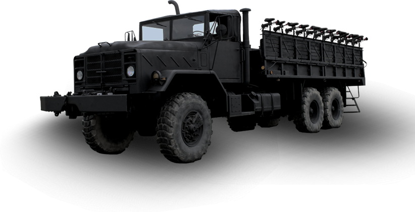 Zombie Hunting Army Transport Truck