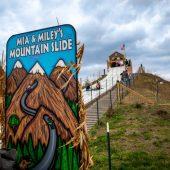 mia and miley's mountain slide