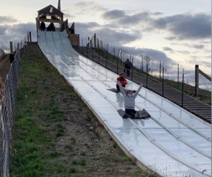Mia & Miley's Mountain Slide